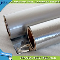 Silver Laminated Vacum Packaging Aluminum Foil PE Film for Packaging Bags or Powder Packaging