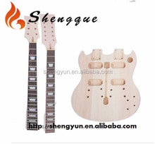 Unfinished Double Neck Electric Guitar Kit