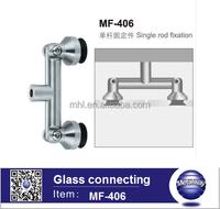 Stainless Steel Glass to Wall adjustable corner connector for galss door