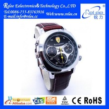 HD 720P Waterproof Wrist Hidden Watch Camera with Mini Camcorder Leather Belt Motion Detection