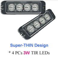 ECE MARK R65 E9 LED Strobe Lightheads /LED Security Flash Strobe light /Dash light /Grille light (SR-LS-LD-4T),3W LED,Super-Thin