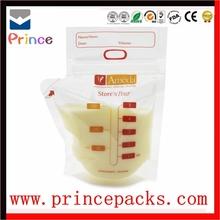 custom printing food grade bag /breast milk storage bag