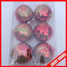 Christmas tree decoration Plastic painted Christmas balls