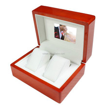 high quality wooden engagement video watch box