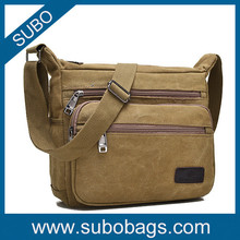 2015 fashion new style canvas messenger bag for men and women