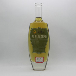 Hot sale clear fancy glass cooking olive oil bottle/wine bottles