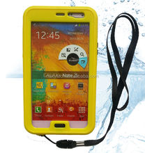 2014 New Products Wholesale Cheap Mobile Phone Waterproof Case for Samsung Note 3 N9000 Note 2 N7100 with button