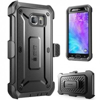 3 in 1 Hybrid Case for Samsung Galaxy S6 Case with Kickstand & Built-in Screen Protector