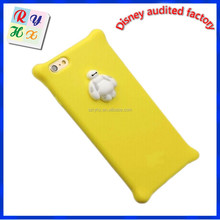 2015 new products cuatomized cartoon mobile phone cover, 3d silicone phone case for iphone 6