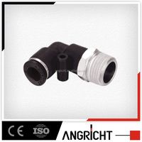 Hot selling A136(PL) Ningbo Angricht Manufacture quick plastic male thread pneumatic connector air tube fitting