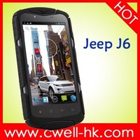 Jeep J6 IP68 MTK6582 Qua d Core 5.0 Inch Touch Sceen 1GB RAM mobile phones with 3000mah battery