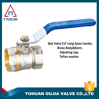 swan brass ball valve tap check valve with high quality long alum handle with plating three way manual power with lock in TMOK