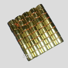 Small round neodymium magnet with gold coating