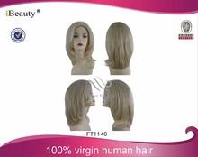 afro kinky blonde human hair topper wigs, brazilian blonde human hair wig