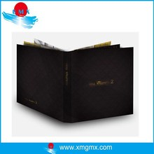 Black Cover Die Cut Flyer Printing Catalog with Company Logo