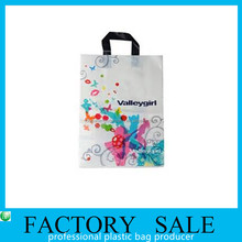 custom LDPE plastic shopping bag