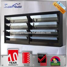 superhouse 10years warranty adjustable aluminum louver frame window with Australia AS2047 standard