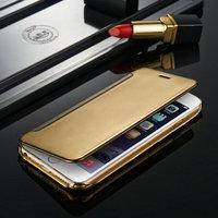 High Clear Transparent Mobile Phone Case Flip PU Case For iPhone 6 plus