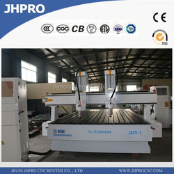 rack and gear cnc router computer controlled wood carving machine / two heads cnc router