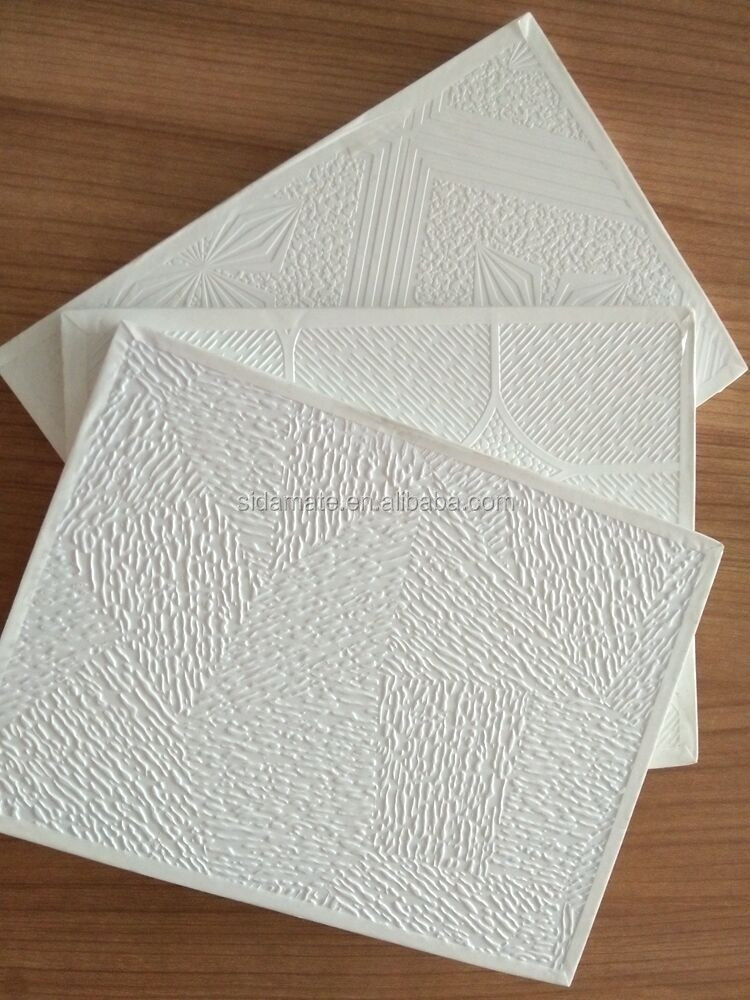 154 22 Pvc Laminated Gypsum Ceiling Tiles 22 With Accessories