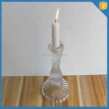 table decoration clear Candle Holders for Taper Candles with round base