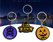 2015 Hot sell the halloween theme soft PVC keychain