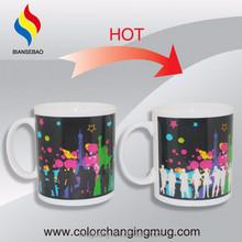 Top Hot Good-looking Business Gifts Hot Sensitive Ceramic Heat Color Changing Mug