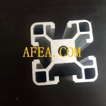 6063 T5 extrude anodized aluminum profile rail