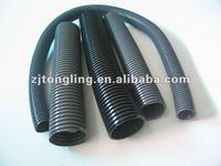 Flexible plastic corrugated tube