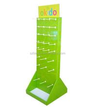 Cardboard hook display stand, hook display, corrugated cardboard stand