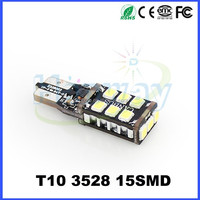 Free Error 850LM Car t10 led Light Auto W5W LED canbus lamp bulb 15 smd 3528/2835 Light