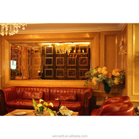 Luxury indoor stainless steel decorative room,wall panels with glass