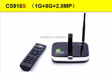 cs918 quad core android tv box camera CS918S 1G8G Android 4.2.2 Smart TV Box Quad core CS918 2MP camera 2015 android tv box xbmc
