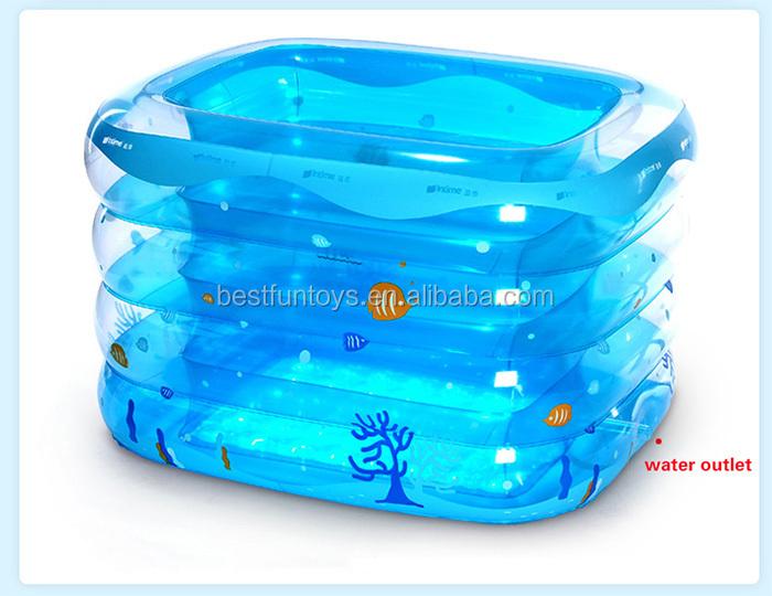 nouveau transparent gonflable enfants baignoire b b carr. Black Bedroom Furniture Sets. Home Design Ideas
