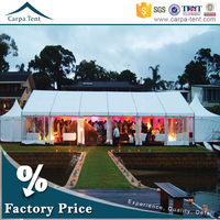 water proof and fire proof wedding tent with beautiful drape