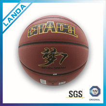 PVC leather basket balls inflated leather balls PU basketball