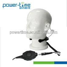 Two-way Radio Heavy-duty Throat Microphone Headset with Waterproof D shape PTT.