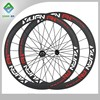 10% off discount fast delivery carbon wheels carbon wheels china for road bike 50mm with NOVATEC red hub 23mm width