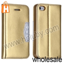 Glossy Stand Flip Leather Case Cover for iPhone 4S 4