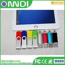 OEM smart phone otg usb flash drive with dual port manufacturer