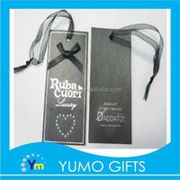 silver hotfoil paper hang tags for clothing, jeans paper hang tag, garment hang tag
