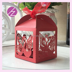 laser cut wedding tin box TH-249