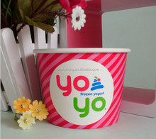 Ice Cream Use and Single Wall Style Ice Cream Paper Cup And Lid