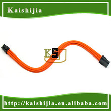 """12"""" Sleeved 6Pin PCI-E Male to 6-Pin Female GPU Power Extension cable - Orange"""