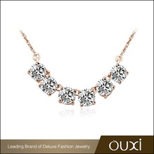 OUXI Hot selling Charming zircon clean 18k gold plated jewelry