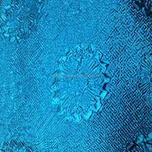 blue color 100% polyester satin crush fabric