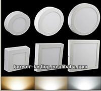 6W 12W 18W Round Square Shape Surface Mounted LED Panel Light