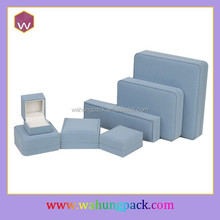 Customized Velvet Jewelry Boxes Set Light Blue Color Packing Jewelry Set Boxes