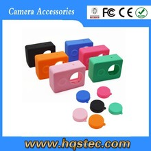 Golden supplier wholesale camera xiaomi yi silicone case for xiaomi yi camera.Black, Blue, Green, Red, Orange, Purple, Rose.