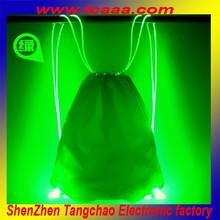 new products promotion led drawstring plastic shopping bag
